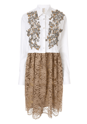 Antonio Marras lace shirt dress - White
