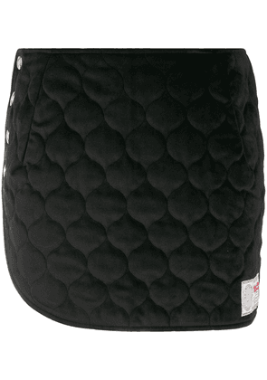 Gcds quilted mini skirt - Black