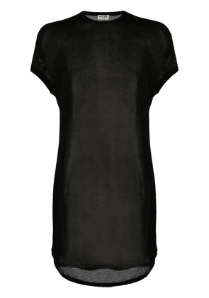 Saint Laurent sheer cotton t-shirt - Black