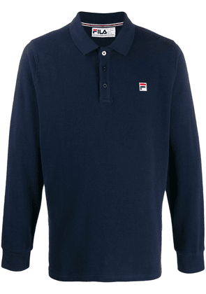 Fila Bertoni logo embroidered polo shirt - Blue