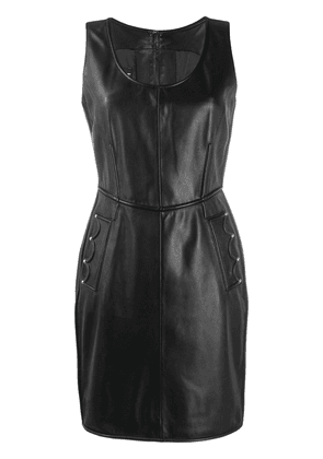 Boutique Moschino sleeveless fitted mini dress - Black