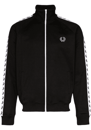 Fred Perry logo stripe track jacket - Black