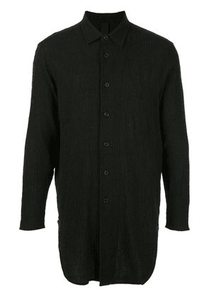 Forme D'expression long-sleeve embroidered shirt - Black
