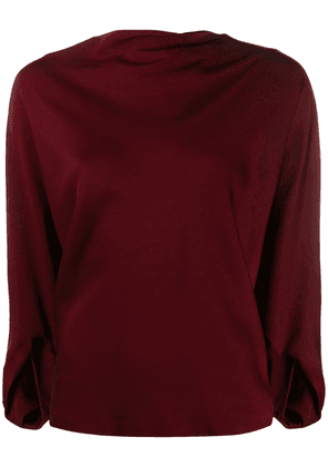Chalayan signature boatneck top - Red