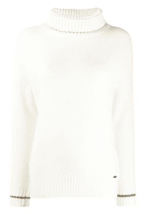 Fay roll neck jumper - White