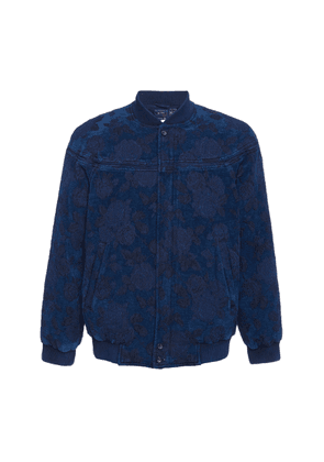 Blue Blue Japan Floral-Print Cotton-Twill Bomber Jacket Size: S