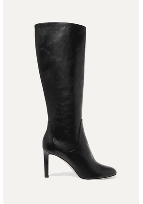 Jimmy Choo - Tempe 85 Leather Knee Boots - Black
