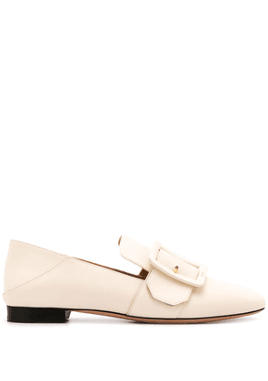 Bally buckle detail loafers - NEUTRALS