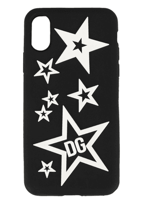 Dolce & Gabbana mixed star iPhone X-XS cover - Black