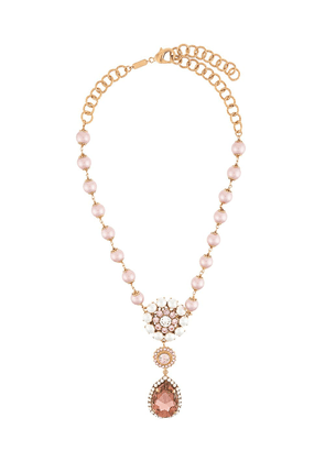 Dolce & Gabbana crystal drop pearl beaded necklace - GOLD