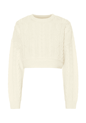 Wool and cashmere cable-knit sweater