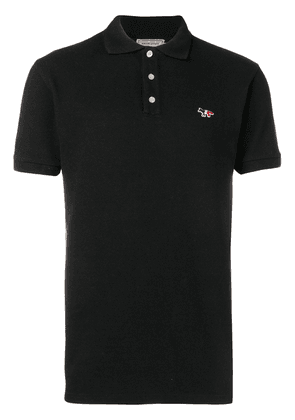 Maison Kitsuné tricolor fox polo shirt - Black