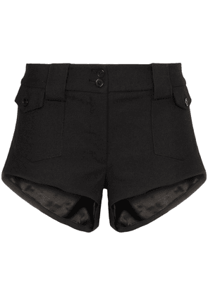 Saint Laurent mid-rise mini shorts - Black