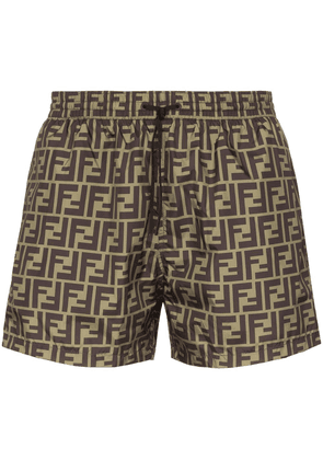 Fendi FF printed swim shorts - MULTICOLOURED