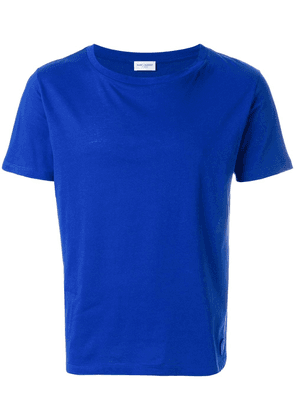 Saint Laurent logo plaque classic T-shirt - Blue