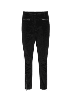 Stretch-cotton cropped skinny pants