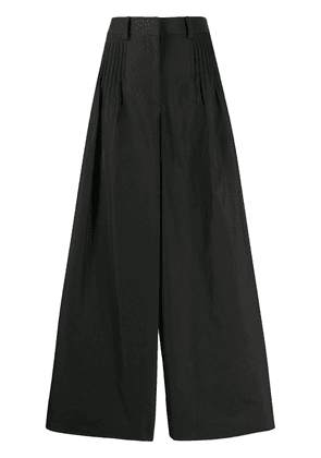 Valentino wide leg cropped trousers - Black