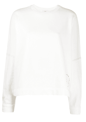 Closed knitted top - White