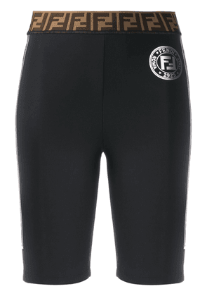 Fendi logo tape cycling shorts - Black
