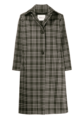 Mulberry Isabella check technical coat - Green