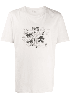 Saint Laurent 'Hangover' print t-shirt - NEUTRALS