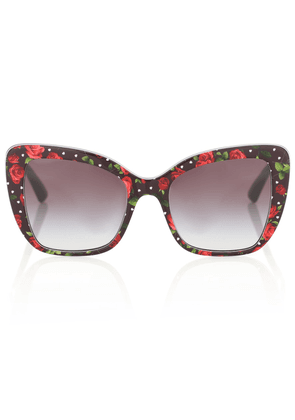 Floral cat-eye acetate sunglasses
