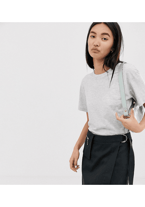 Weekday Alanis relaxed fit crew neck t-shirt in grey melange