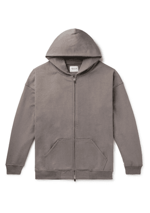Fear of God - Oversized Loopback Cotton-jersey Zip-up Hoodie - Gray