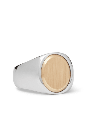 Tom Wood - Oval Goldtop Sterling Silver And 9-karat Gold Ring - Silver