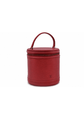 Louis Vuitton cannes red leather travel bag