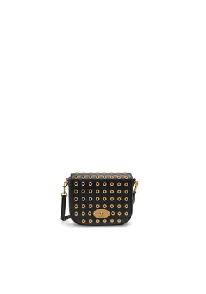 Mulberry Small Darley Satchel in Black Shiny Calf with Eyelets
