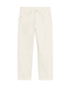 REGULAR Cropped Jeans - White
