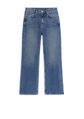 FLARED Cropped Jeans - Blue