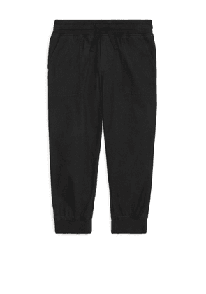 Twill Pull-On Trousers - Black
