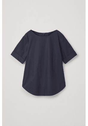 PLEATED-BACK COTTON TOP