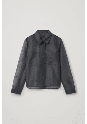 SHEER SHIRT WITH PATCH POCKETS