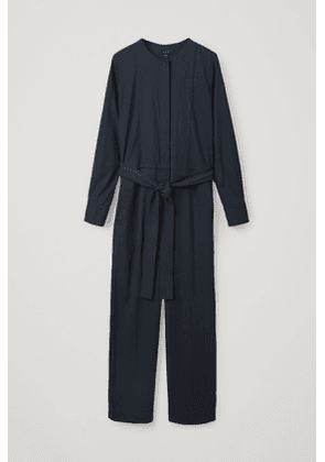 BELTED STRAIGHT JUMPSUIT