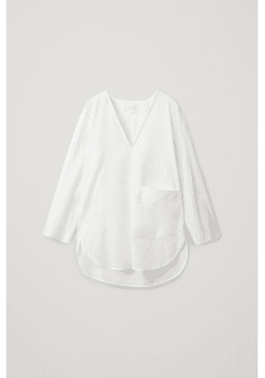 ROUNDED COTTON SHIRT