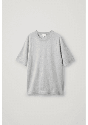 COTTON-CASHMERE KNITTED T-SHIRT
