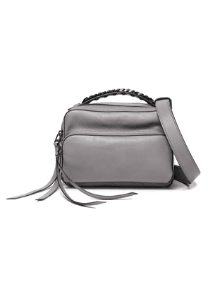 Elena Ghisellini Convertible Chain-embellished Leather Shoulder Bag Woman Gray Size --