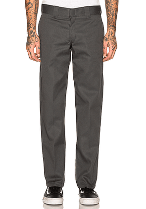 Dickies Slim Fit Work Pant in Charcoal. Size 32x32,33x32,34x32.