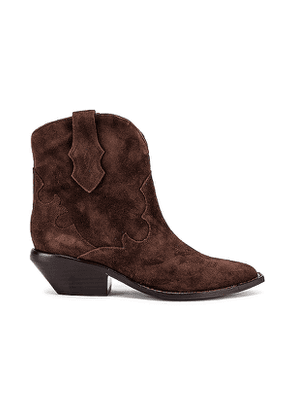 Sigerson Morrison Taima Bootie in Brown. Size 36,36.5,37.5,38,38.5,40.