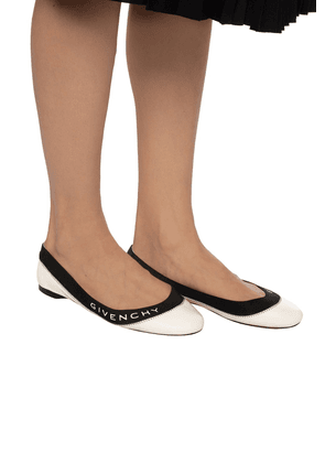 Givenchy Ballet Flats With Logo Women's Multicolor
