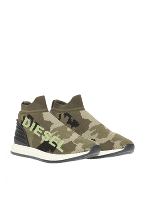 Diesel Patterned Sneakers Unisex Green