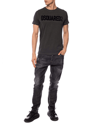 Dsquared2 T-shirt With Velvet Logo Men's Multicolor