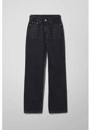 Rowe Extra High Straight Jeans - Black
