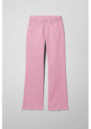 Mile Pink Cropped Jeans - Pink
