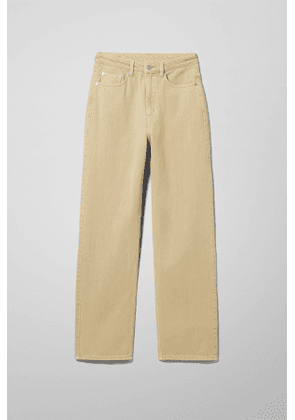 Rowe Extra High Straight Jeans - Beige
