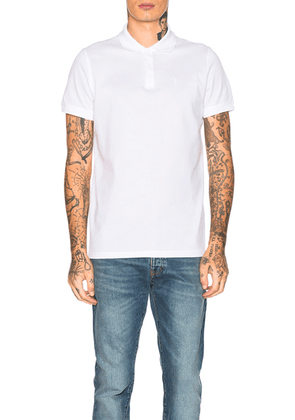 Saint Laurent Sport Polo in White - White. Size L (also in S).