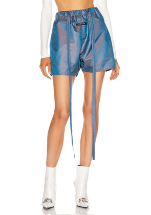 Fear of God Military Training Short in Blue Iridescent - Blue. Size S (also in M,XL).